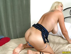 Pleasuring blond Charlee Chase acts nastily during fucking