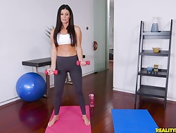 Overwhelming maiden India Summer enjoys a rigid stick