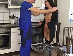 18yo German  Stella Fuck the Worker to Pay the invoice