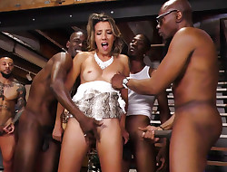 Sophia Mercy Interracial Buttfuck Gangbang