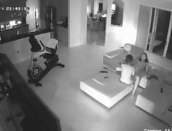 couple plumbing on spycam