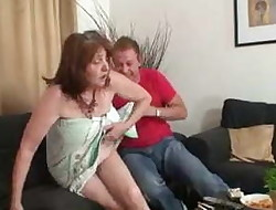 Guy fucks gfs mother old pussy