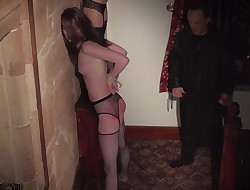 4 slaves punished and abjected by sir he bangs and smack