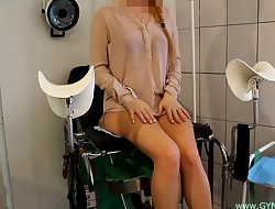 Doll on an old gynecological stool #51